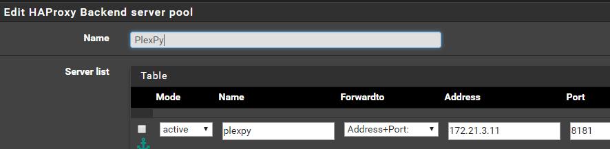 PfSense with HAProxy